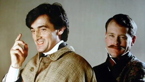 Roger Rees and Crawford Logan as Holmes and Watson
